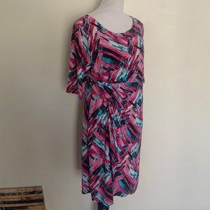 Star Vixen XLarge Multicolored Midi Dress